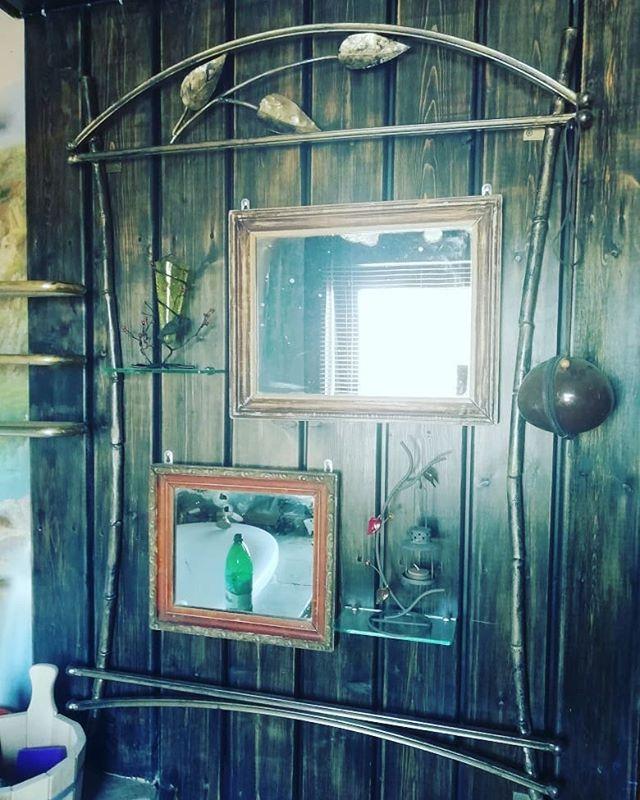 Рамка для зеркала. #зеркало #рамка #бамбук #творчество #кузница #ковка